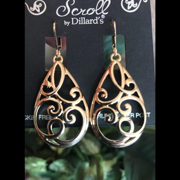 924435479 Dillard's Jewelry   Scroll Earrings By Dillards   Poshmark